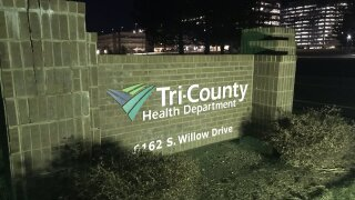 Tri-County Health Department sign