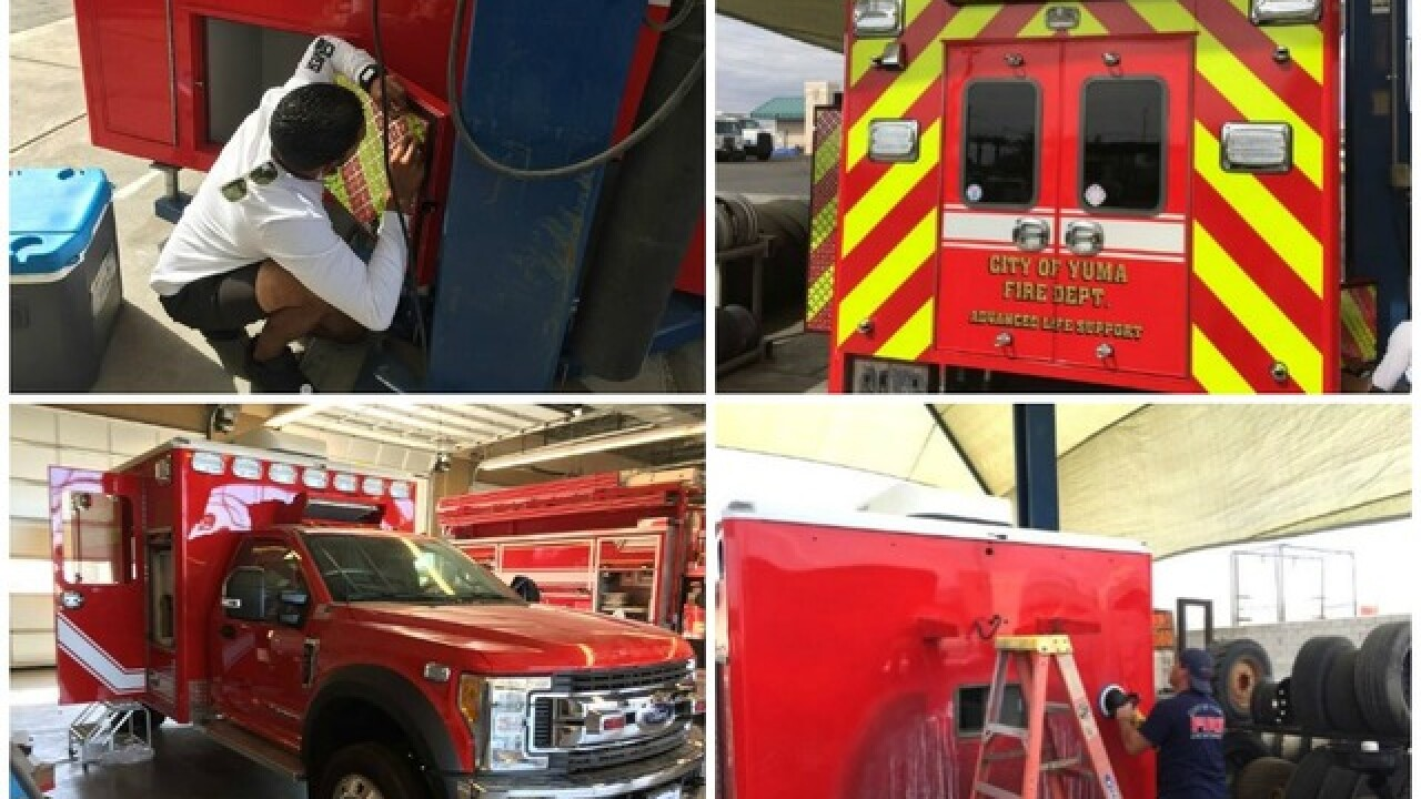 Yuma fire department saves money by building own ambulance with local companies