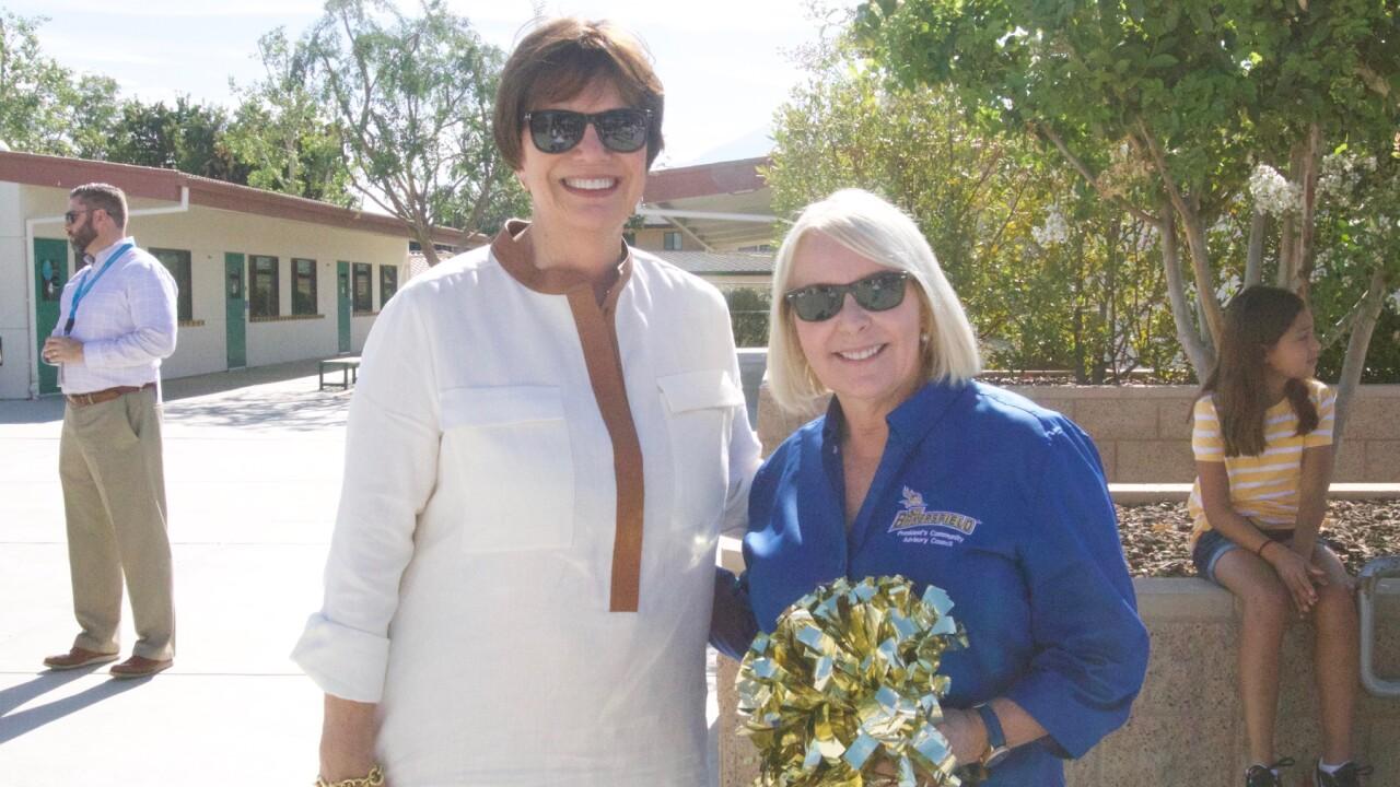 CSUB President Dr. Zeleny and Barbara Grimm-Marshall.