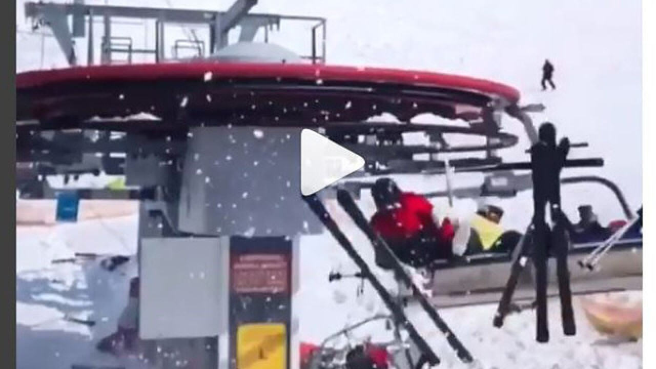 Shocking video shows ski lift violently throwing people off at high speeds