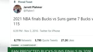 Bucks fan predicted Milwaukee-Phoenix NBA Finals all the way back in 2016