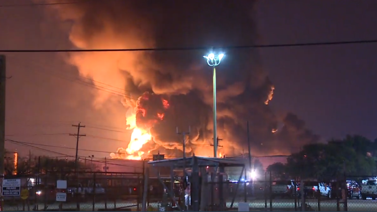 Schools to reopen as Texas chemical plant fire continues to burn