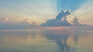 Rays and haze over Corpus Christi Bay - Photo By: FB Coastal Bend Weather Watcher Lu Ann Kingsbury