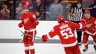 Red Wings win prospects tournament behind Veleno's two third period goals
