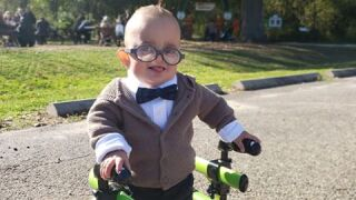 Born premature, boy's first Halloween costume — Carl from 'Up' — is an inspiration