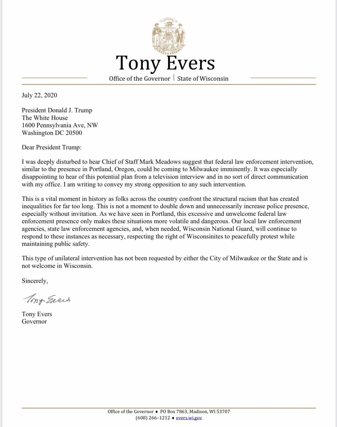 evers-letter