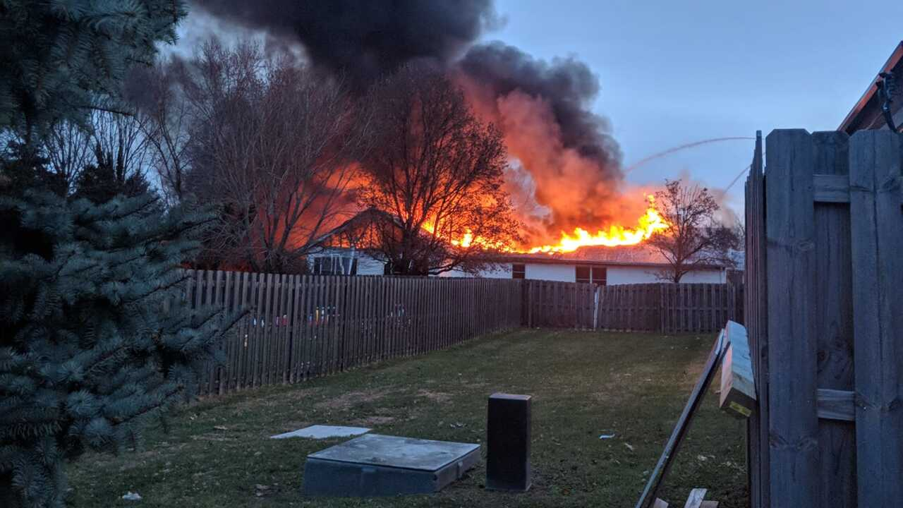 Mentor house fire