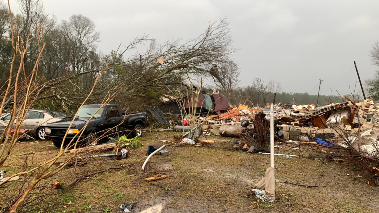 Tornado Damage in Damascus GA