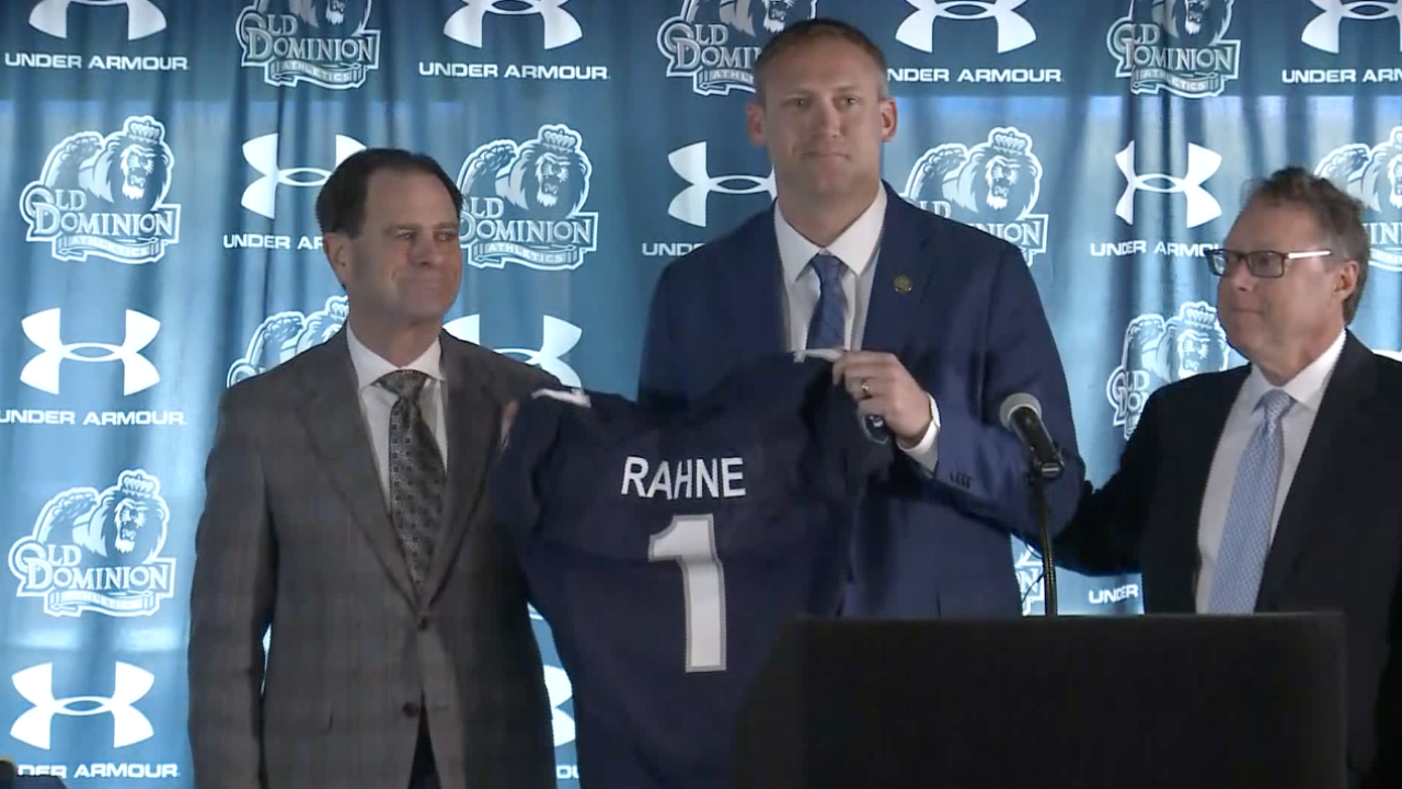 Old Dominion University introduces new football coach Ricky Rahne