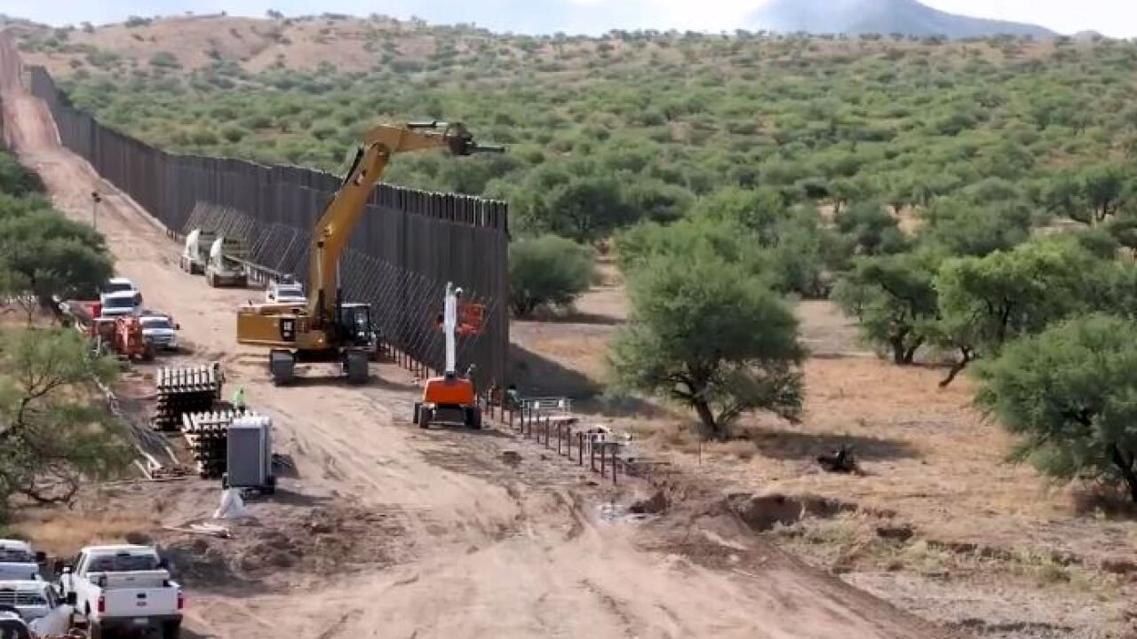 The Department of Homeland Security is progressing on a 137-mile border wall project near Sasabe.
