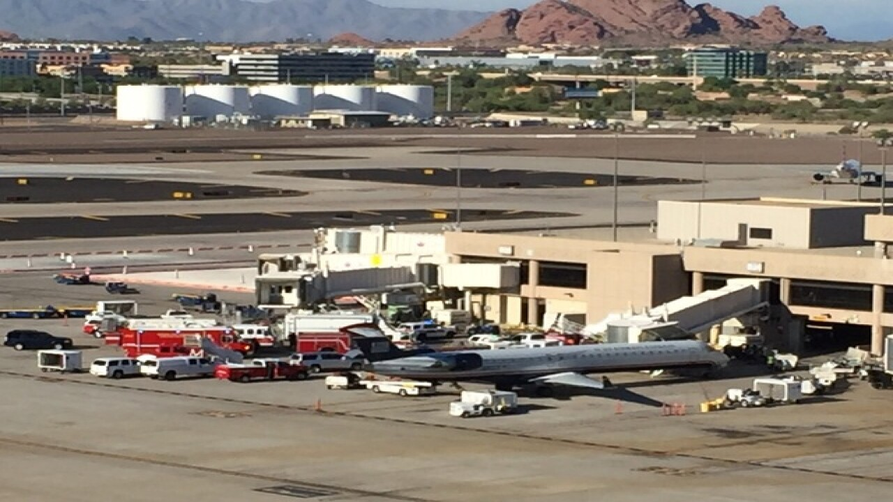PHX FD investigating substance found on plane