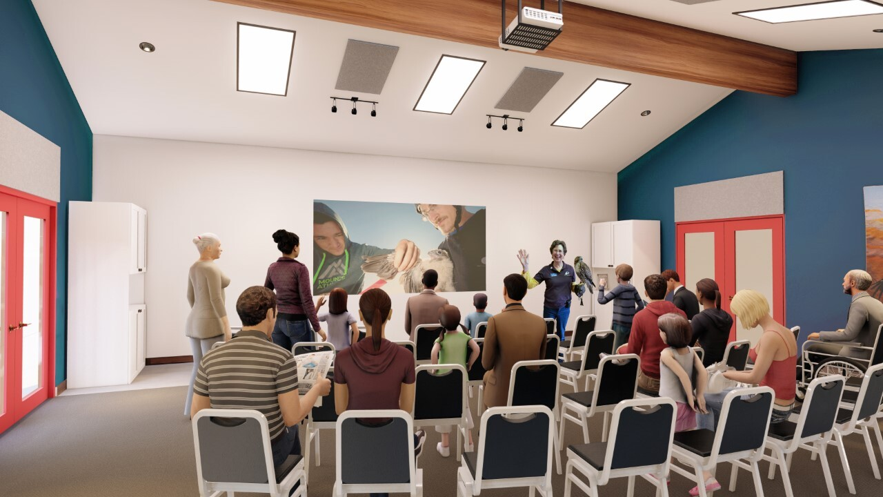 Rendering of Power Global STEM Classroom coming to World Center for Birds of Prey