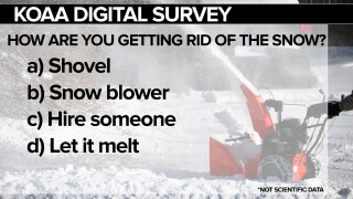 KOAA Survey: What are you doing to get rid of the snow?