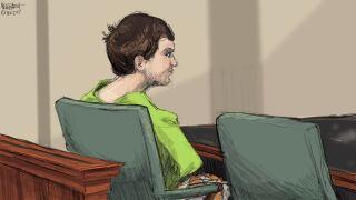 Brian Rini court sketch