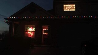 Christmas decorations stolen over the weekend from several families' homes in Claremore