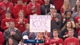 Michigan, Nebraska honor Kobe Bryant to open game