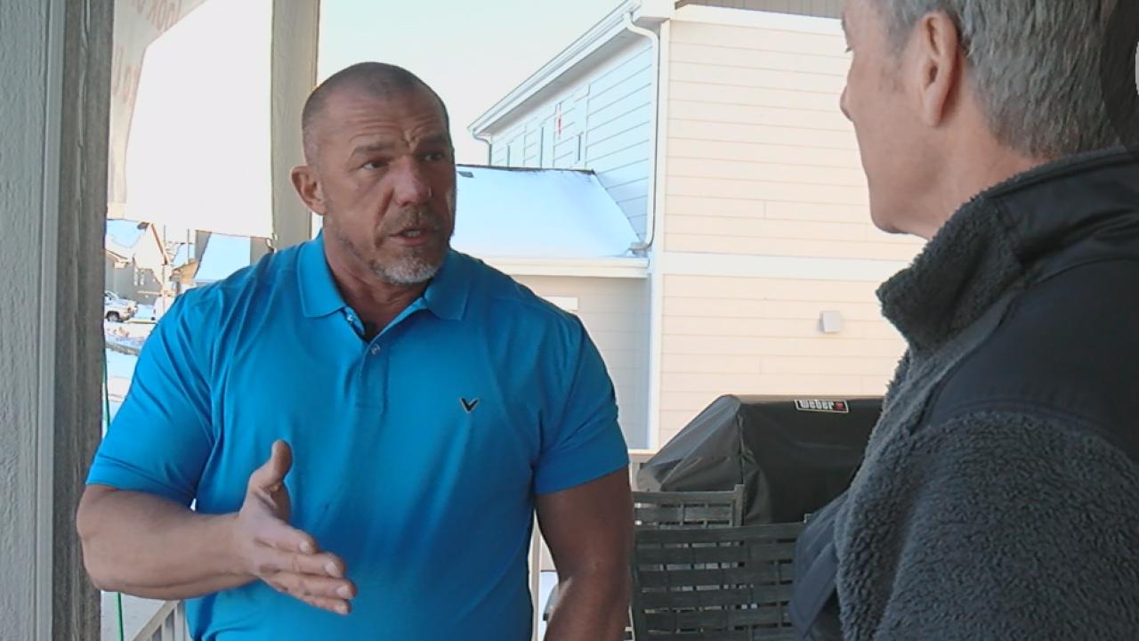 Homeowner Tim Mitchell speaks to Denver7's Tom Mustin