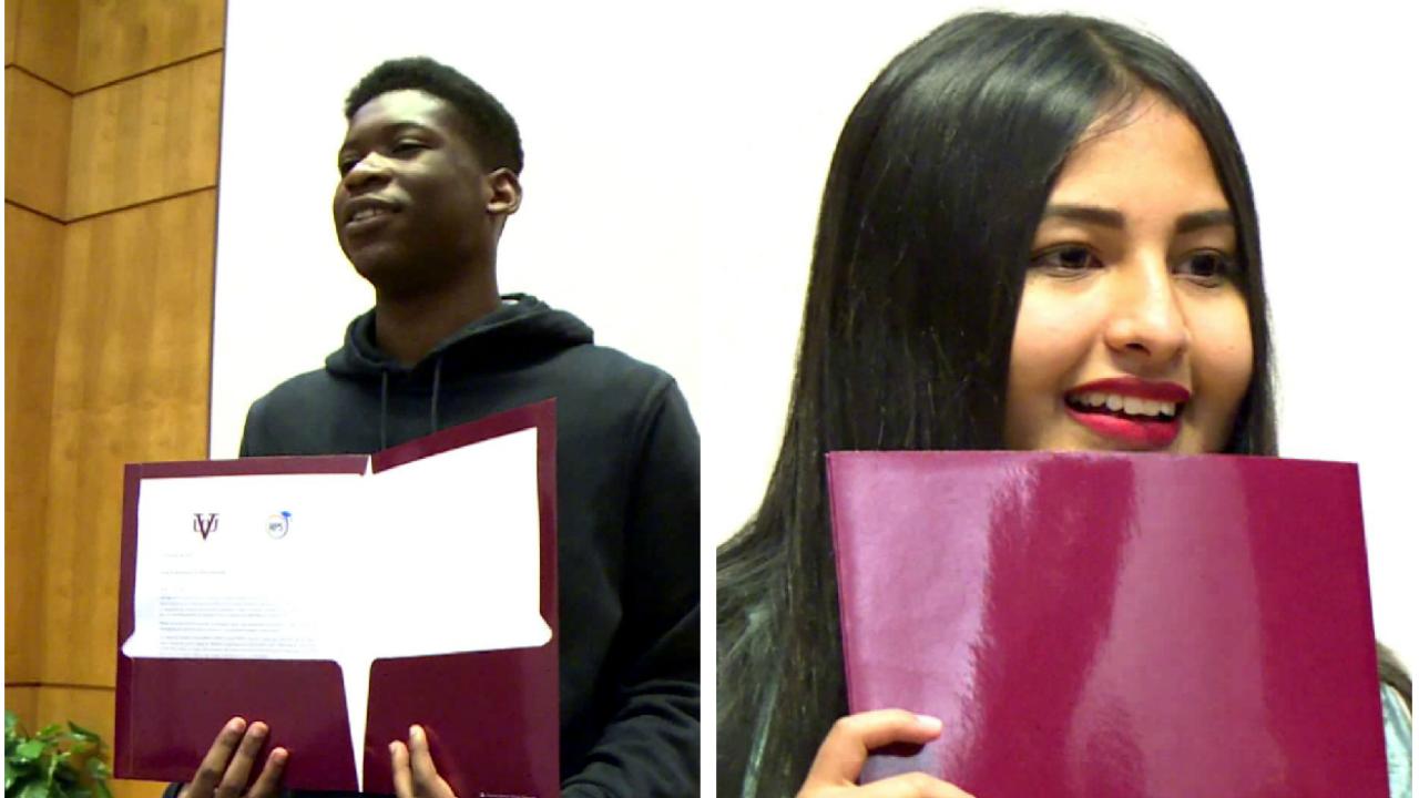 50 Richmond students surprised with full scholarships to Virginia UnionUniversity