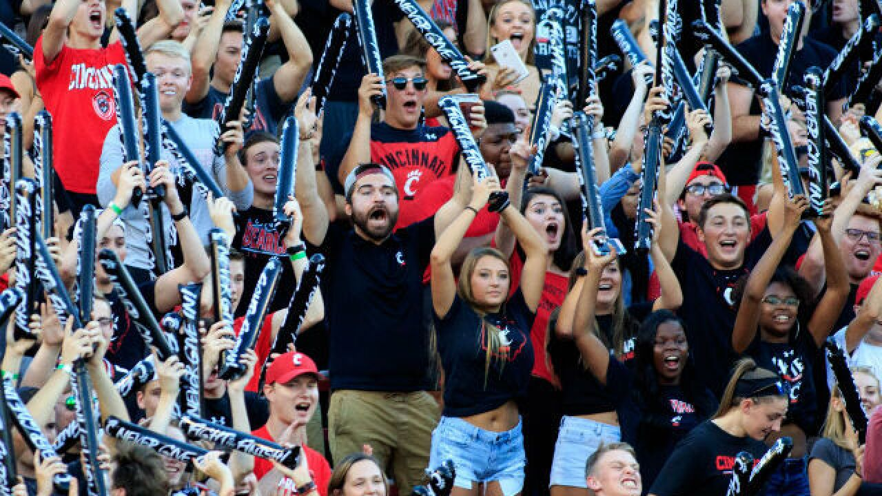 Which college football team has the happiest fans in the land? Cincinnati Bearcats, that's who