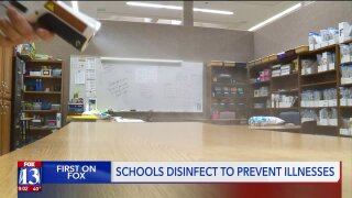 Schools ramp up cleaning efforts as kids come down with flu, fears over coronavirus spread