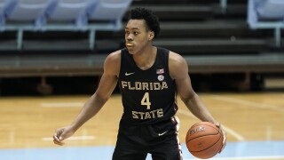 Florida State Seminoles guard Scottie Barnes at North Carolina Tar Heels, Feb. 27, 2021