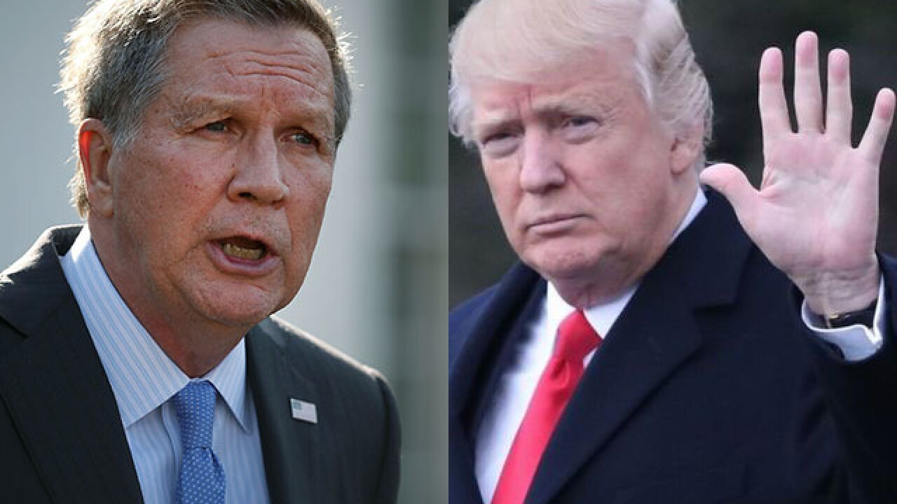 Governor Kasich claps back after Trump throws shade on Twitter
