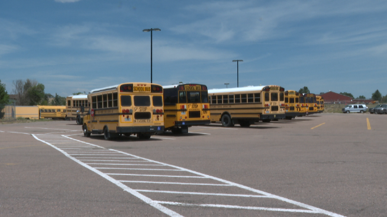 Lewis-Palmer District 38 buses