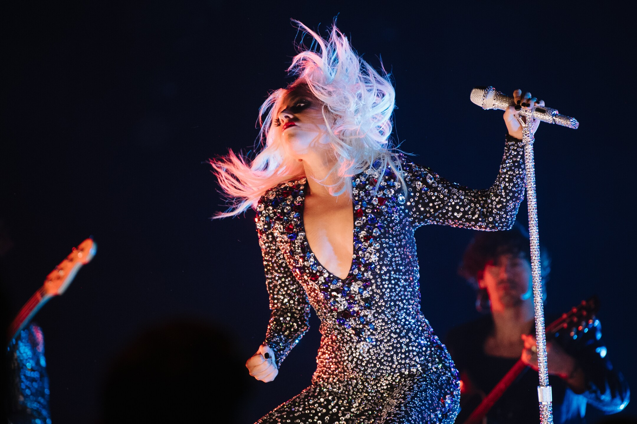 Lady Gaga performs at 61st Annual GRAMMY Awards.