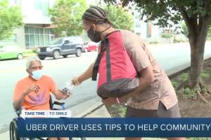 Cancer survivor drives ride-hail to provide lunches for Nashville's homeless