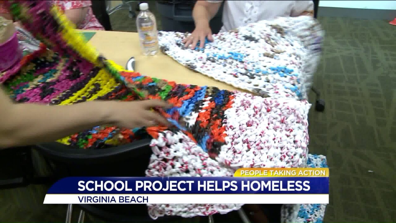 People Taking Action: Virginia Beach mom uses plastic bags to help thehomeless
