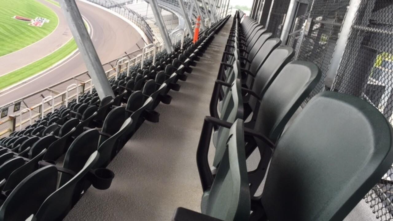 PHOTOS: New seating at IMS