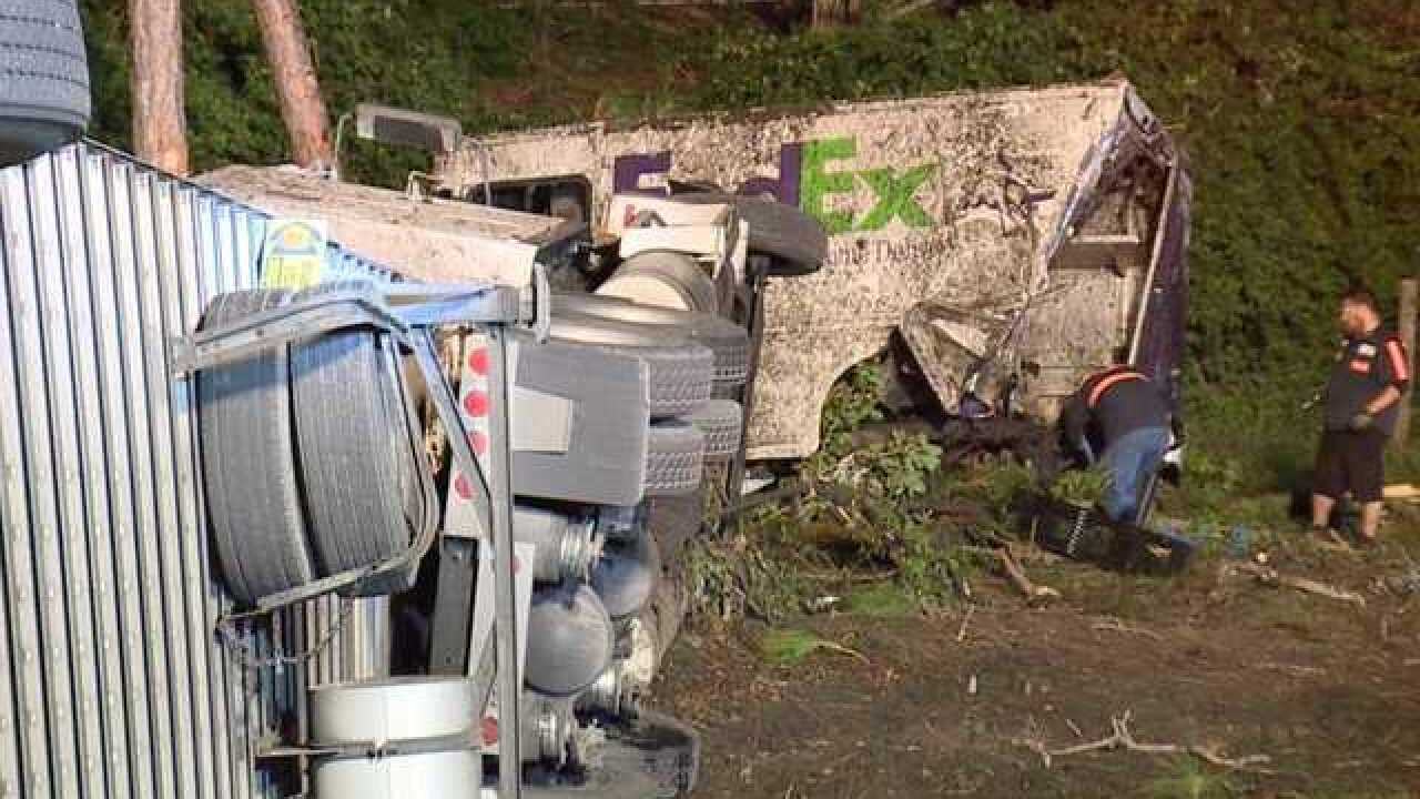 Drivers walk away uninjured in overnight crash