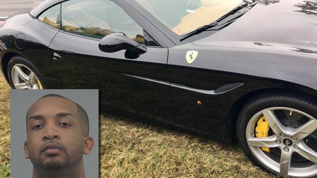 Fla. Uber driver arrested for stealing Ferrari