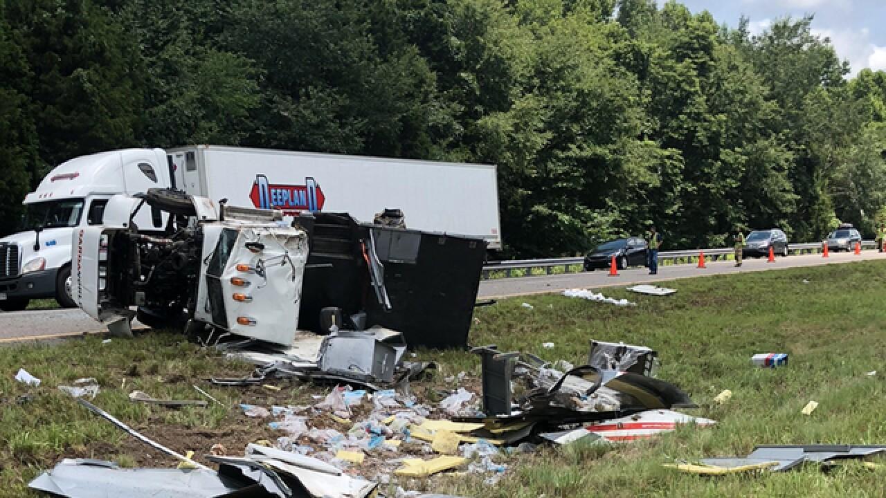 Coins Scattered Over I-40W In Humphreys County Crash