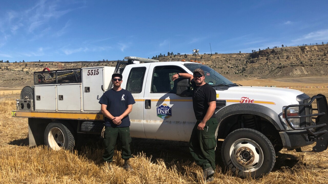 Montana DNRC Crews Fighting the Mountain View Fire