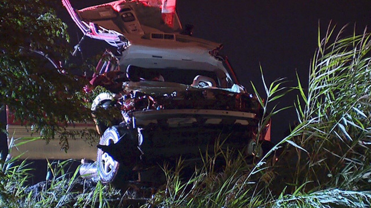 Man dies after car gets stuck under guardrail