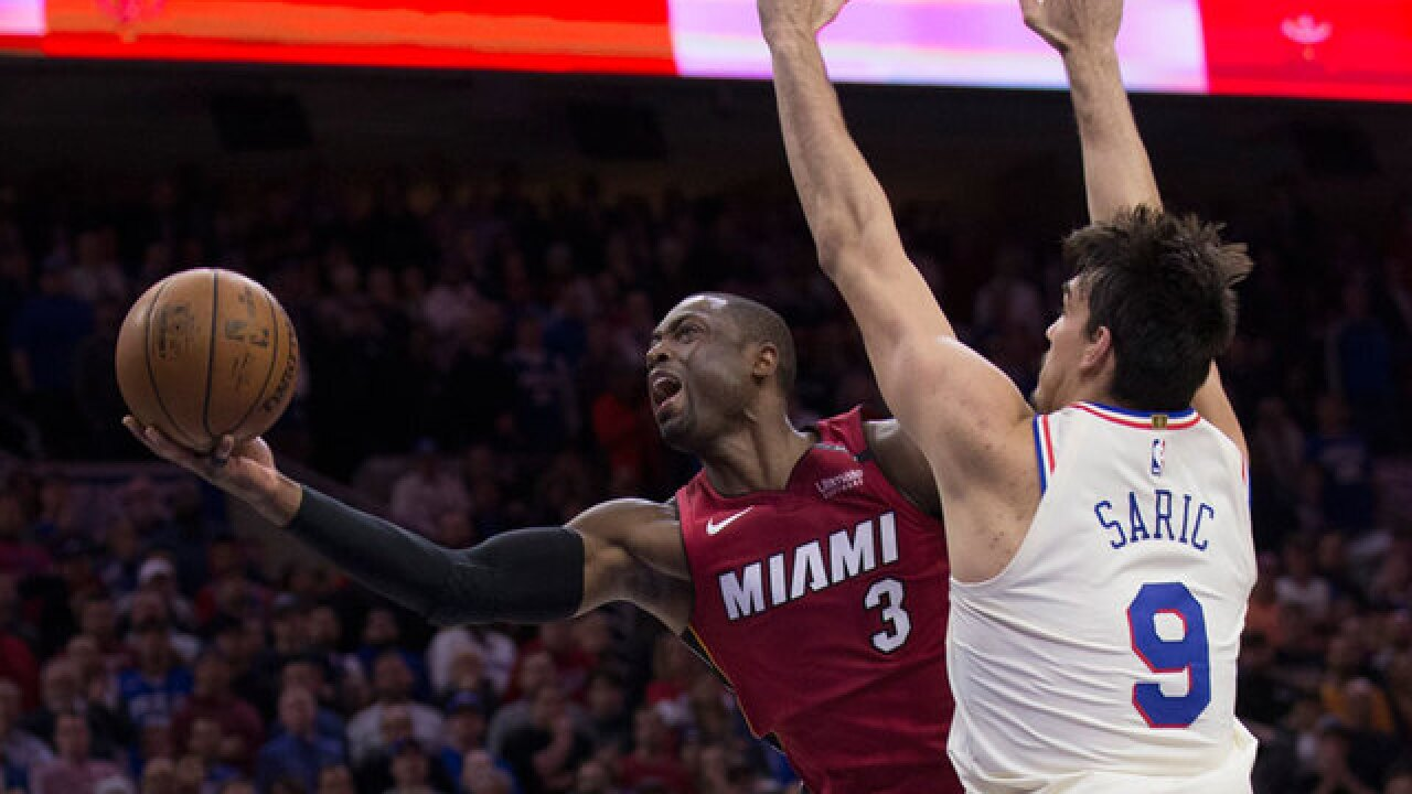 Dwyane Wade turns back the clock and 76ers in Game 2 Heat victory