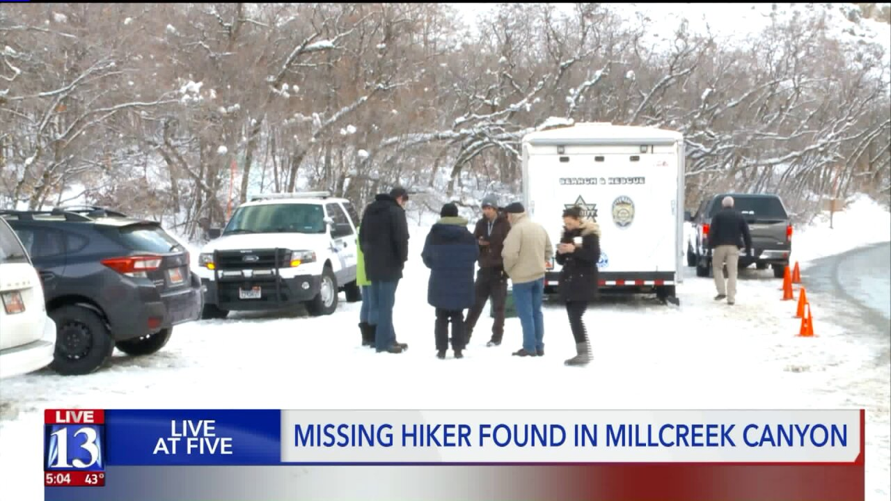Teen hiker who disappeared in Millcreek Canyon found alive