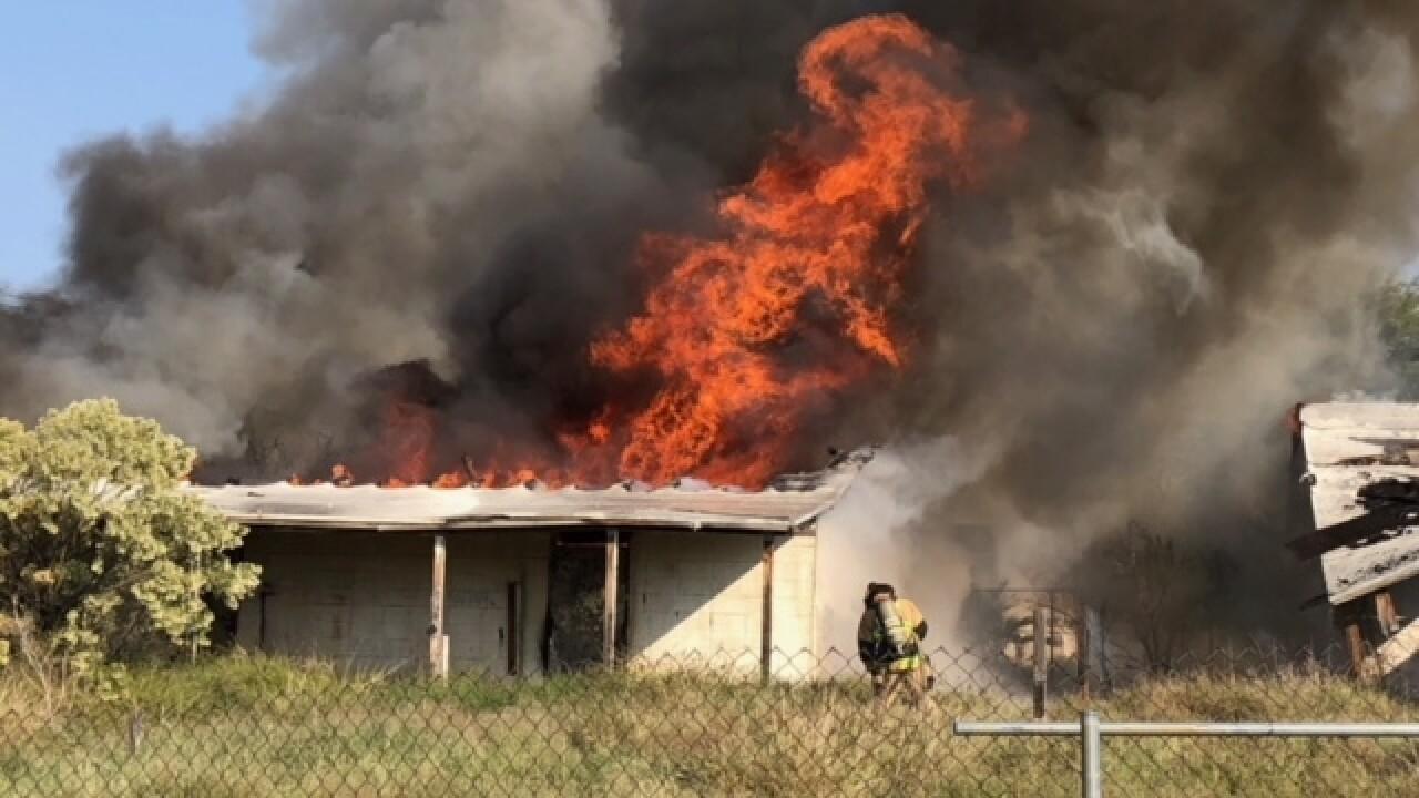 Fire on Benson Highway and Alvernon
