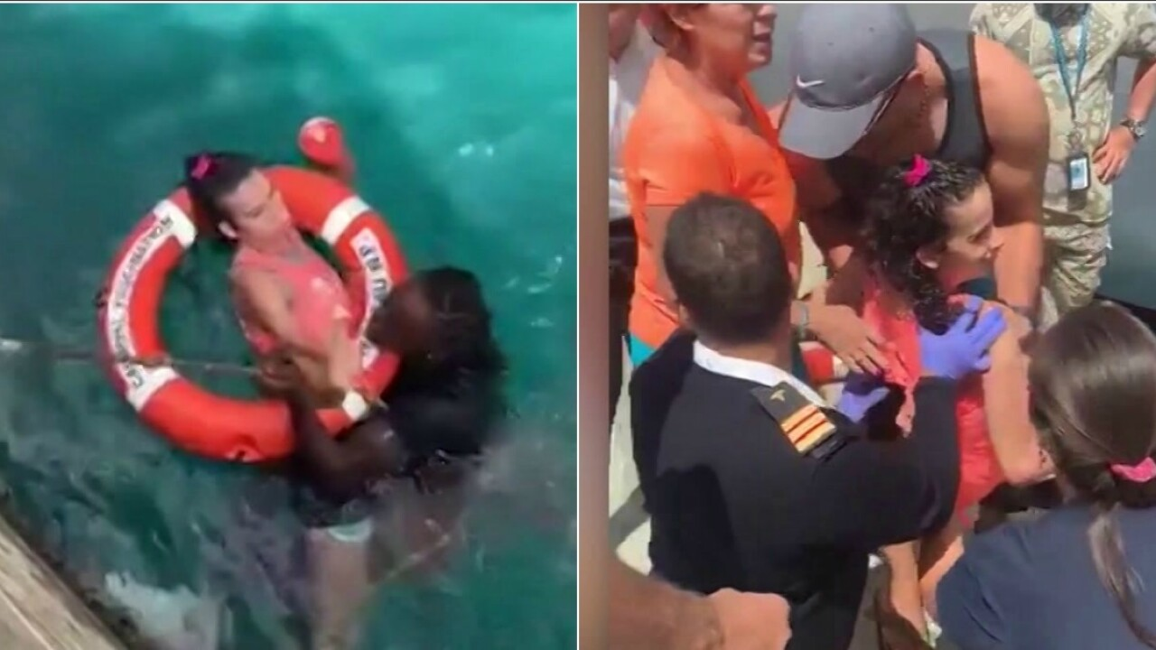 Men rescue wheelchair-bound woman who fell off dock into ocean