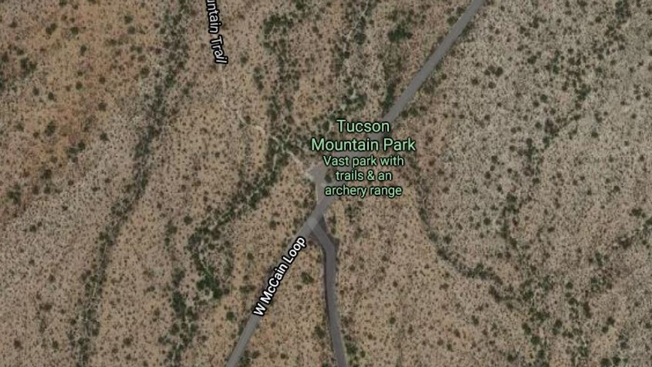 Crews rescued a stranded hiker in Tucson Mountain Park Wednesday. Photo courtesy Google Maps.