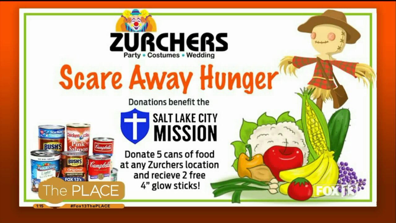 Zurchers Halloween costume ideas and 'Scare Away Hunger' food drive