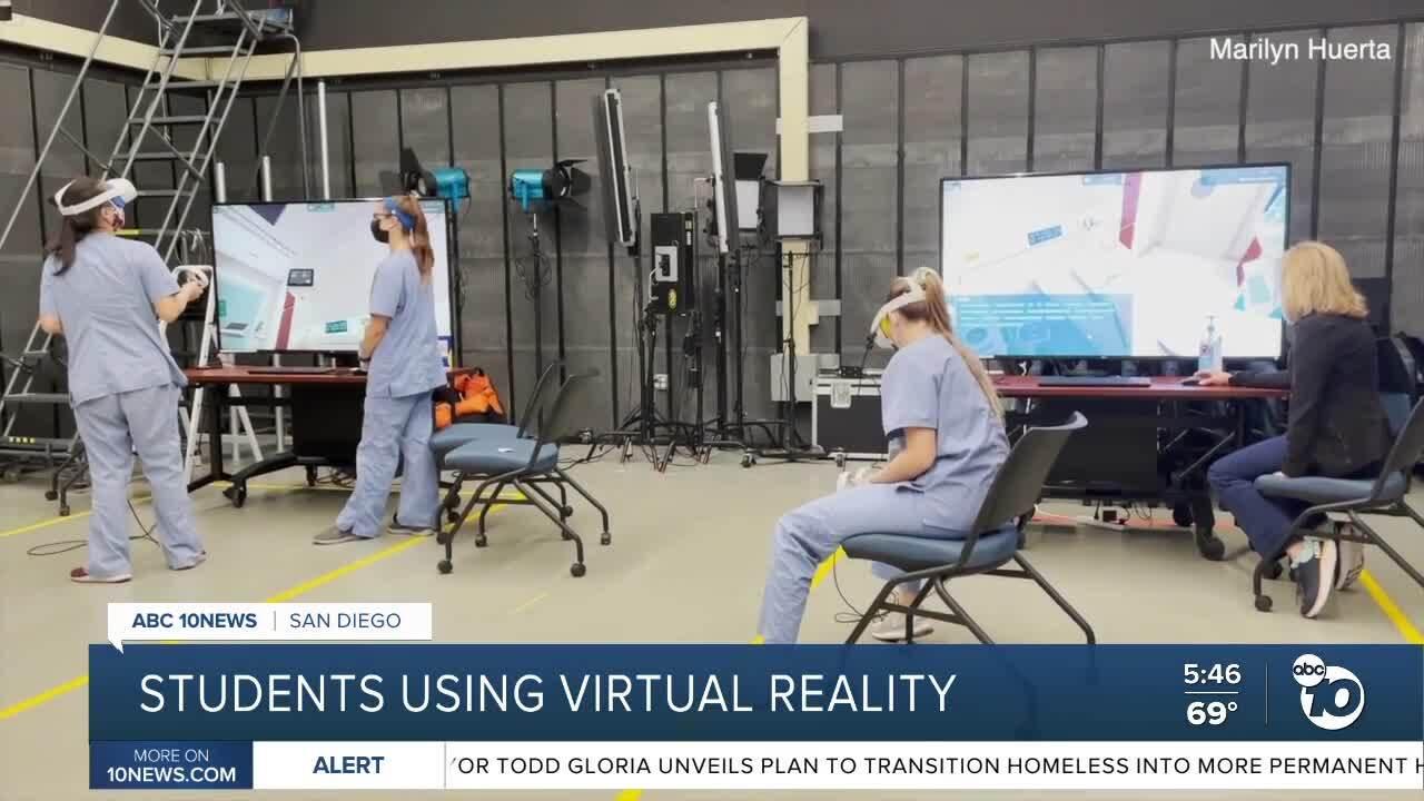 CSU San Marcos nursing students using virtual reality to complete studies