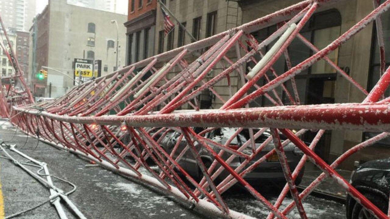 1 dead, 2 hurt after crane collapse in Manhattan