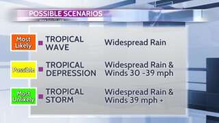 Heavy rain a certainty with Gulf disturbance