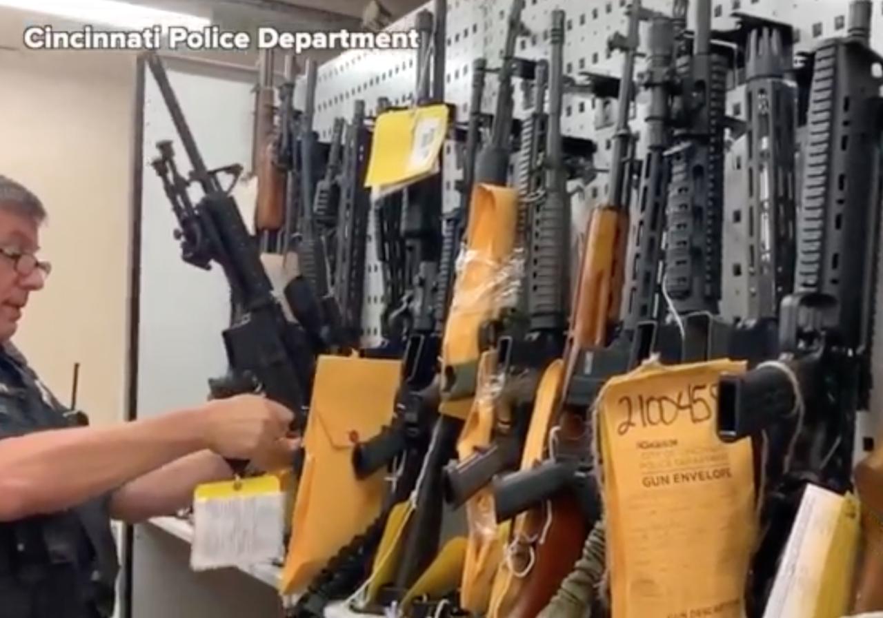 Illegal firearms seized by Cincinnati police