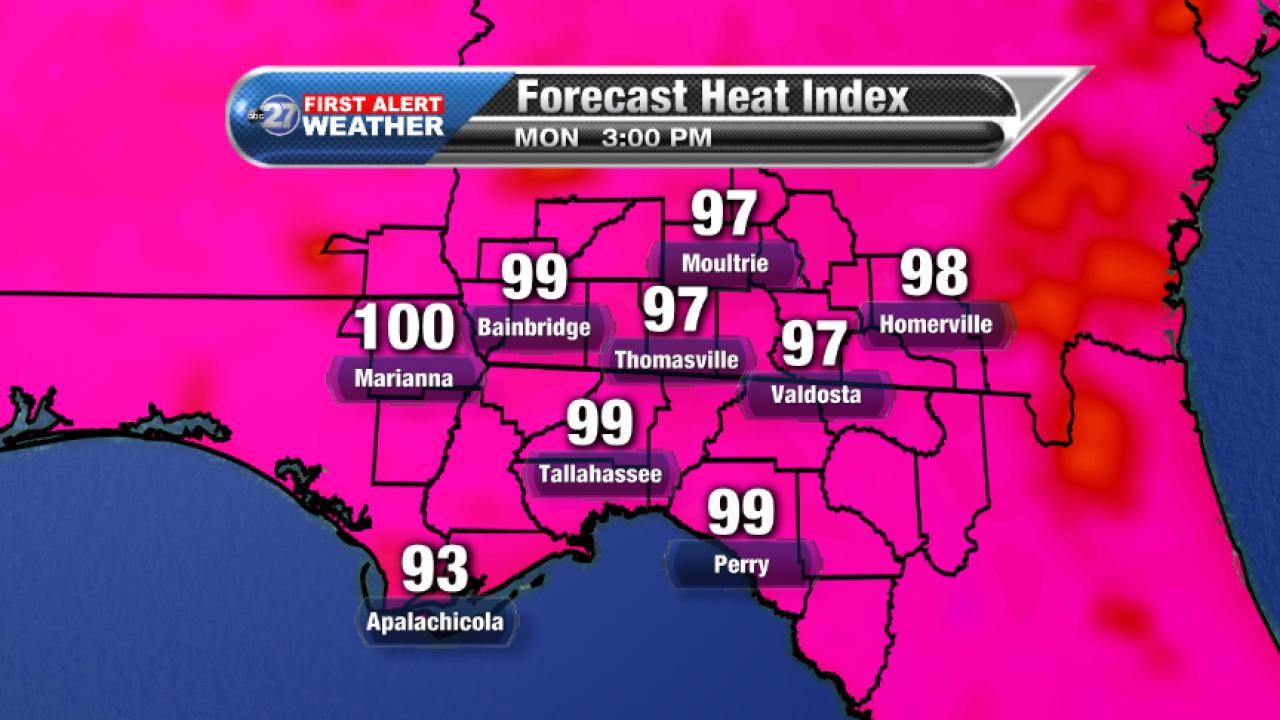 Forecast Heat Index (08/21/2017)