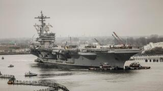 Photos: USS George H.W. Bush drydocking at Norfolk Naval Shipyard
