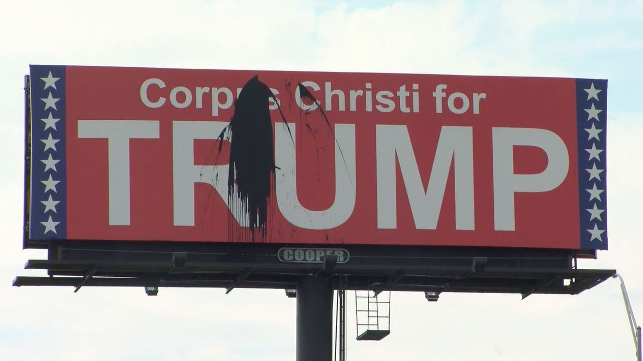 Pro-Trump billboard found vandalized
