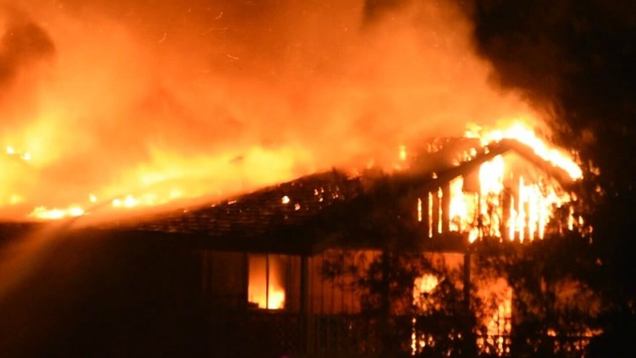 Flames erupt at El Cajon home